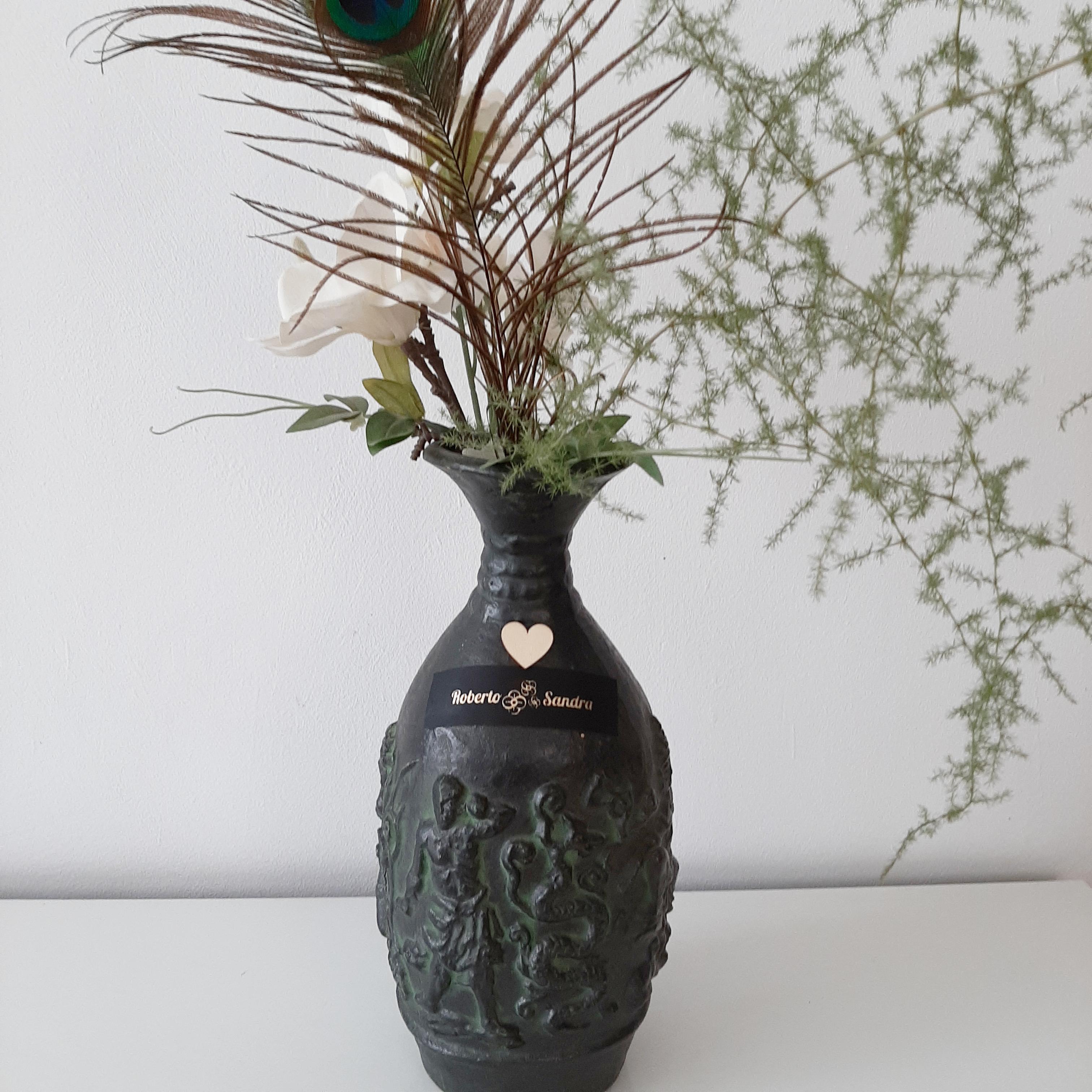 jarrón flores personalizado