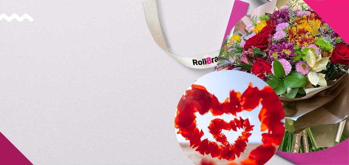Encabezado flores enamorados