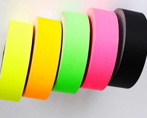 Adhesivos de colores para impresoras térmicas.